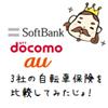 NTTdocomo(ドコモ)、au、ソフトバンクの自転車保険を比較してみた